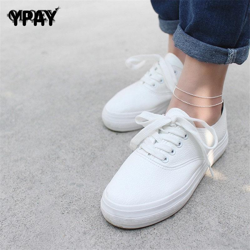 YPAY Women Elegant Double Chain Bead Anklet Bracelet Sexy Foot Ankles for Lady Girls Perfect Fine Jewelry Drop Shipping YMA011