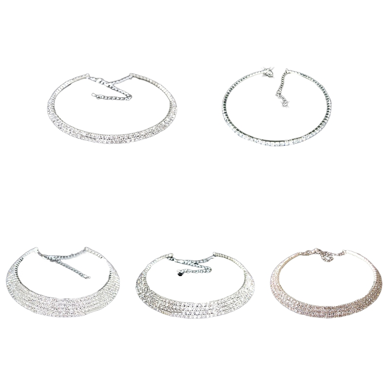 Multilayer Zircon Clavicle Necklace Collar Wedding Bridal Jewelry For Women Necklaces Elegant Girl Gift Party Accessories