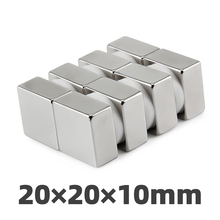 50pc 20mm x 20mm x 10mm x 10mm Super Strong Powerful Neodymium NdFeB Magnets Block Rare Earth Cube Fridge Magnet 20 * 20 * 10 5pcs 60x20x10mm super strong neo neodymium magnet 60x20x10 ndfeb magnet 60 20 10mm 60mm x 20mm x 10mm magnets 60 20 10