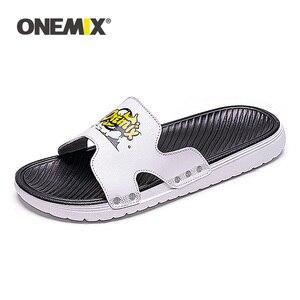 Image 3 - ONEMIX Summer Men Beach Sandals Casual sandals Men Or Women Slippers Indoor Outdoor Women Wading Flats Shoes Men 2019 New