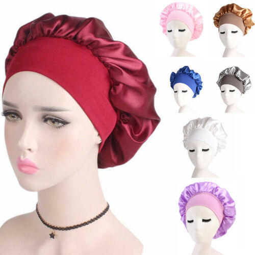 Long-Hair-Care-Women-Satin-Bonnet-Cap-Night-Sleep-Hat-Silk-Head-Wrap-Adjust-Shower-Caps