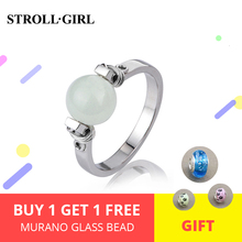 Luxury 925 Silver Luminous Handmade Jewelry Finger Ring Rings For Girls Boho Berloque Gifts