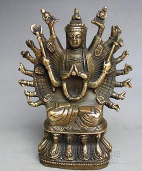 Antique carved bronze brass ornaments Avalokitesvara