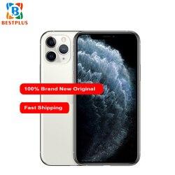 Перейти на Алиэкспресс и купить brand new apple iphone 11 pro a2217 mobile phone 5.8дюйм. 4gb ram 64gb rom triple rear camera 1125 x 2436 pixel hexa-core cell phone
