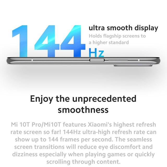 """Global Version Xiaomi Mi 10T Pro 8GB RAM 128GB ROM Smartphone Snapdragon 865 Octa Core 144Hz 108MP Camera 6.67"""" DotDisplay 6"""