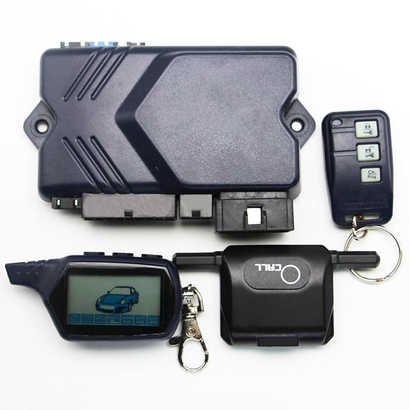 Image 3 - Sólo para ruso Twage B9 llavero de alarma antirrobo de coche de dos vías TAMARACK RC sistema antirrobo LCD llave de Control remotoAlarma antirrobo   -