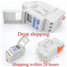 цена на 7 Days Programmable Digital Timer Switch Relay Control Digital LCD Power Timer220V 230V 6A 10A 16A 20A 25A 30A Electronic Weekly