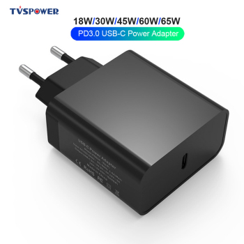 65W USB Type C Charger Adapter Black PD QC3.0 45W/60W/29W for Macbook 12 13 inch ASUS XiaoMi Air Pro Laptops most USB-C Devices gan 65w 45w pd usb c type c phone laptop charger power adapter for macbook asus zenbook lenovo dell xiaomi air hp sony power