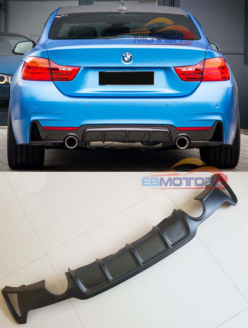 435d REAR TRUNK LETTER EMBLEM BADGE for BMW 4 SERIES 3 COLOR CHROME GLASS BLACK