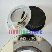 محول رقاقة لتأكيد EMF AF الفضي لعدسة تثبيت M42 لكاميرا Canon EOS EF 7D II 5D III 650D 600D 350D 1100D 1200D Rebel + CAP