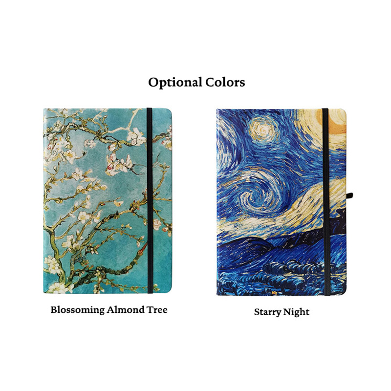 Hot Offer Ddea4 Dot Grid Hard Cover A5 Van Gogh Painting Starry