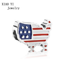 XIAOYI jewelry 100% 925 Sterling Silver New 1:1 charming Original 791272 enmx flag element limited edition beaded accessories(China)