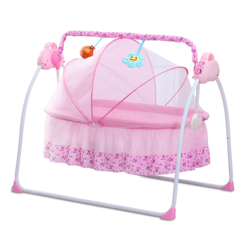 H96e1623d2557455f9665a2a4ff066d53d smart electric Baby cradle baby rocking chair  intelligent sleepy newborn cradle baby swing moises para bebe baby rocker culla