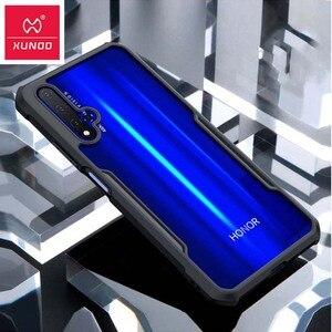 Image 1 - Funda de anillo Xundd para Huawei nova 5t, Airbags de lujo, a prueba de golpes, funda transparente para Honor 20 Pro