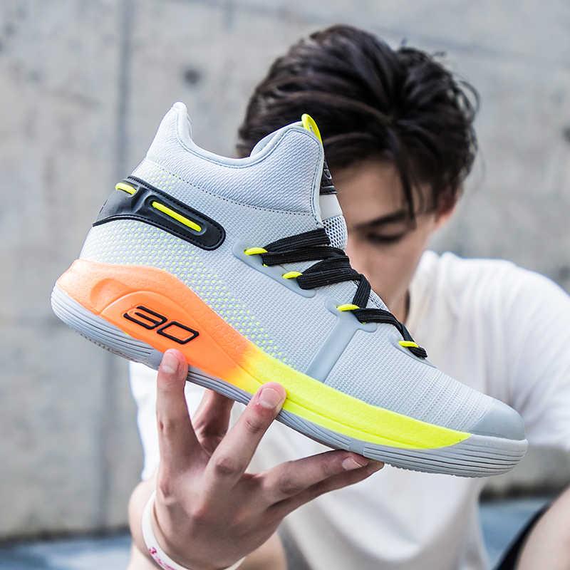 รองเท้าบาสเก็ตบอลผู้ชายรองเท้าผ้าใบรองเท้าเด็กกลางแจ้งกีฬารองเท้าผู้หญิงสบายๆรองเท้าบาสเกตบอลชาย