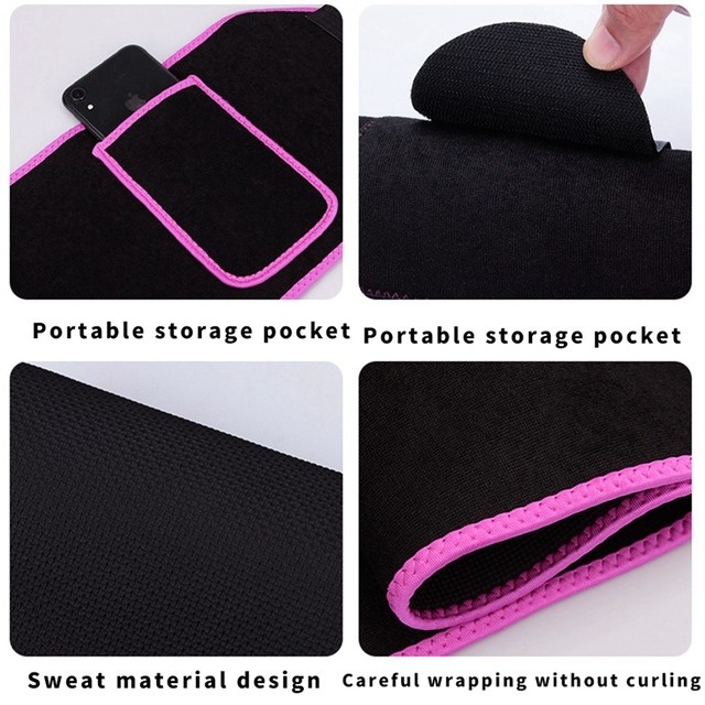 Sweat Waist Trainer Corset Trimmer Belt for Women Weight Loss with Comfortable Phone Pocket M 2