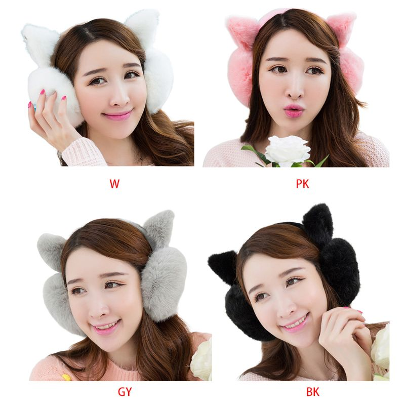 Fashion Plush Ear-cap Cute Women Girls Warm Comfortable Earmuffs Protec