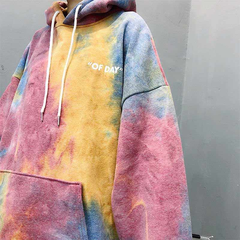 NiceMix Drucken Bunte Herbst Hoodies Frauen Langarm Frühling Pullover Weibliche Mode Damen Sweatshirts Taschen 2019