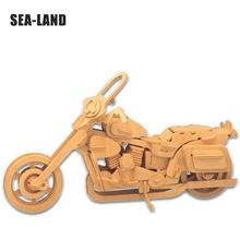 Kids Toys Wooden 3d Puzzle For Children Motorcycle HD II Montessori Educationaly Diy Toy Challenge Wisdom Gift Or Adult