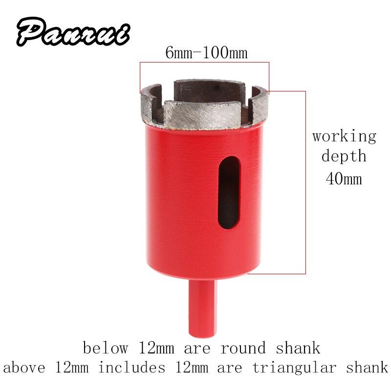 1 шт. 6-100 мм Мраморный нож Алмазный сердечник для гранитной кирпичной плитки керамический бетон сверление эффективный строительный Прочный инструмент