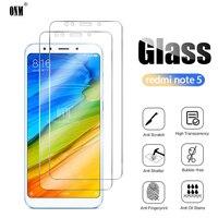 2 uds redmi note 5 vidrio templado para Xiaomi redmi note 5 Pro Protector de pantalla para Xiaomi redmi note 5 Pro película protectora de vidrio
