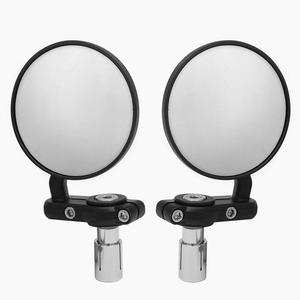 22mm Universal Motorcycle Mirror Aluminum Black Handle Bar End Rearview Side Mirrors Motor Accessories(China)