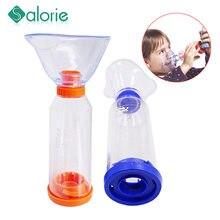 Criança adulto inalar automizer espaçador névoa tanque de armazenamento nebulizador com máscara compressor compmist nebulizer copo bocal