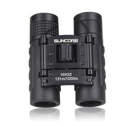New-Suncore Hunting Pocket Binoculars Hd 10X22 Binoculars Professional Telescope Zoom Vision Lightweight Black