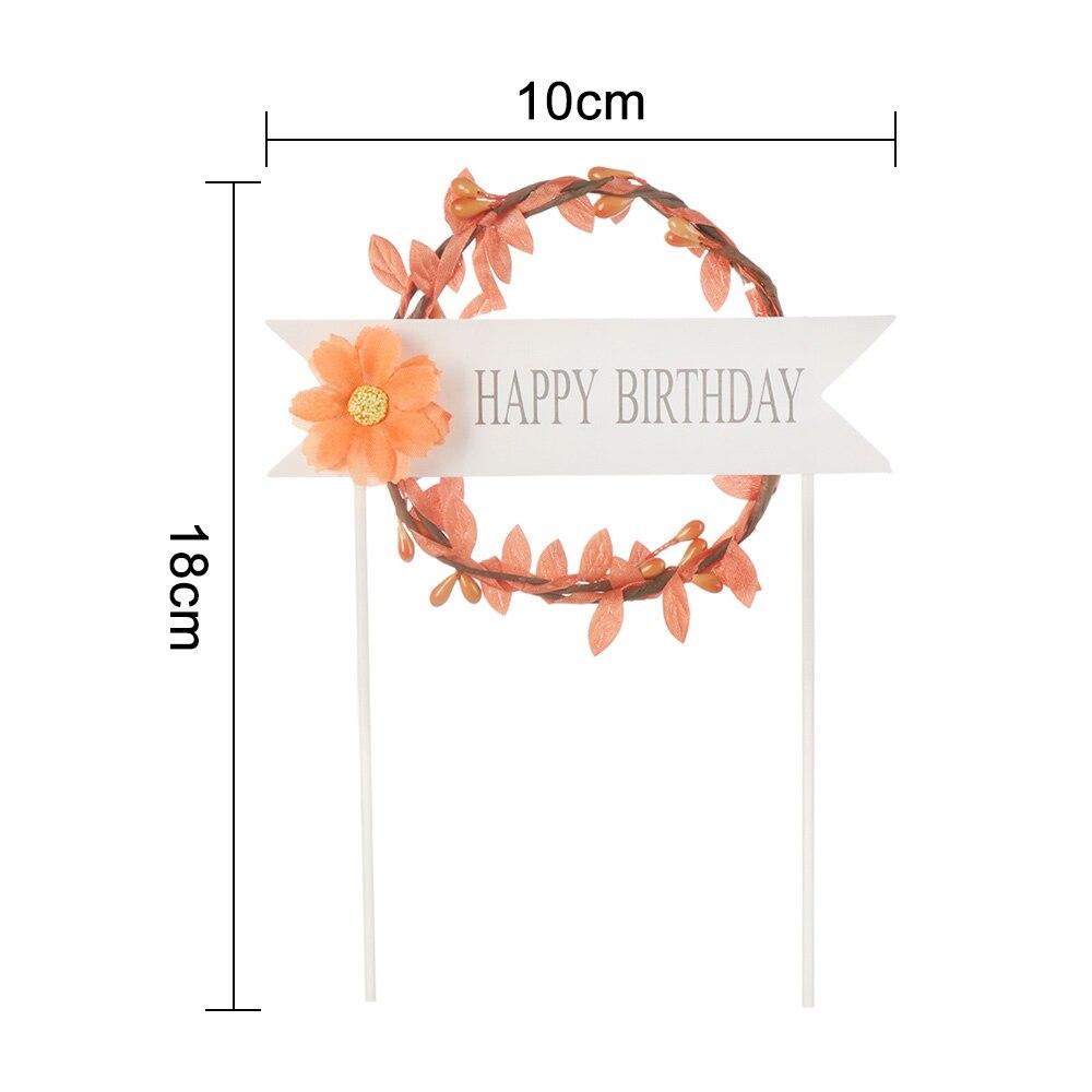 1 шт. светодиодный, светящийся, искусственная гирлянда, Топпер для торта на день рождения, подарок для торта, украшение, цветок маргаритки, топперы для торта, год