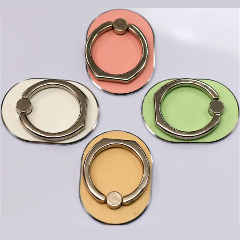 2020 Mobile Phone Stand Holder Finger Ring Metal Colorful Oval Mobile Smartphone Phone Holder Stand For All Phone