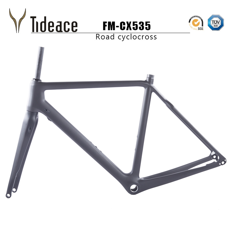 2019 Carbon Gravel Frameset 700*42C Aero Cyclocross Bicycle Carbon Frames Flat Mount Disc Brake Thru Axle 142mm