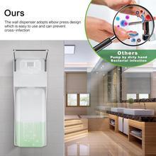 1000ML ABS ידני סבון Dispenser מרפק לחץ סבון משאבת קיר רכוב Sanitizer יד Dispenser בית החולים בית מלון אמבטיה