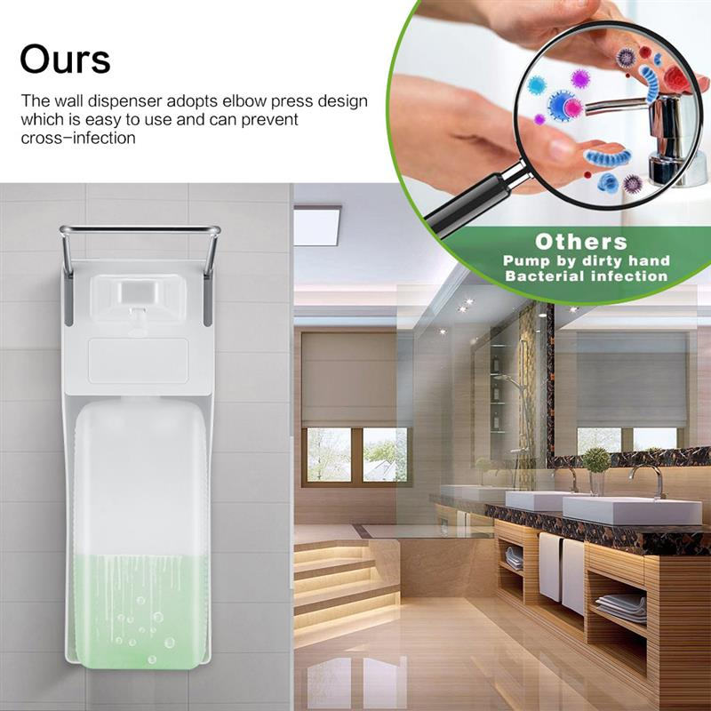 1000ML ABS Manual Soap Dispenser Elbow Press Soap