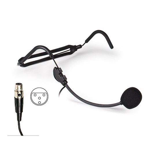 Microphone Fonestar With Diadem For Cabez Electrect With MiniXLR Connector 4 Pin
