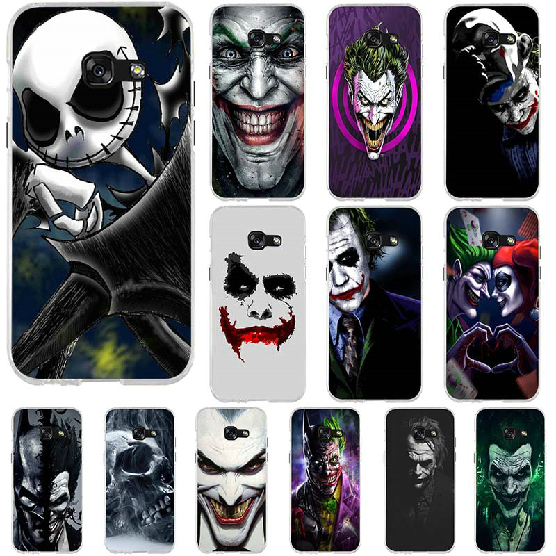 The Killing Joke Face Soft Silicone TPU Mobile Phone Bags Cases for Samsung Galaxy A3 A5 A7 J1 J3 J5 J7 2016 2017 Coque Shell image