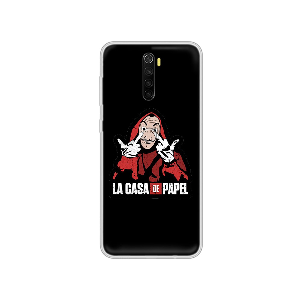 TV Series Money Heist House of Paper fashion Etui Transparent Phone Case For XIAOMI Redmi Note 3 4 5 6 7 8 9 9s Pro max 8T 4X