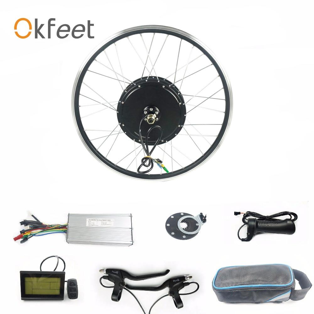 48V 1000W Hinten Rad Hub Motor 26 28 700c Zoll Bürstenlosen LCD3 Display KT Wuxing Elektrische Fahrrad ebike Conversion Kit