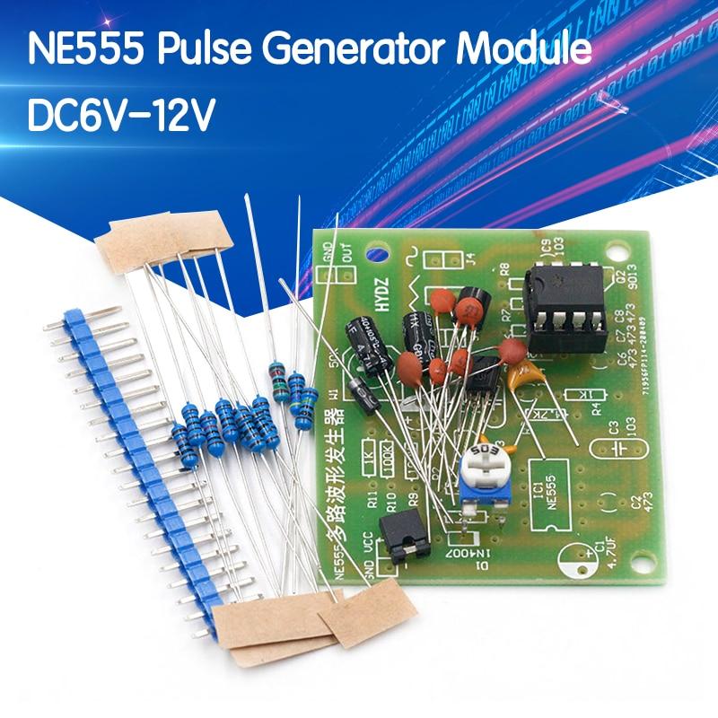 DC6-12V NE555 Pulse Generator Module Sine/Triangle/Square Wave generator multi-channel Waveform Signal Generator DIY Kit
