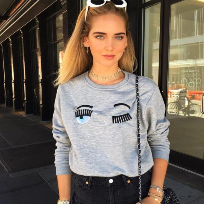 New Women S Short Sweater  European Standing Eye Embroidery European Small  Top Ins Cool
