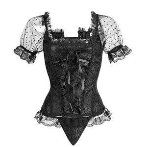 Image 5 - Corset Vintage à la taille pour femme, Corset à bretelles, amincissant, combinaison de fête et Club, Steampunk, Corset, haut Bustier