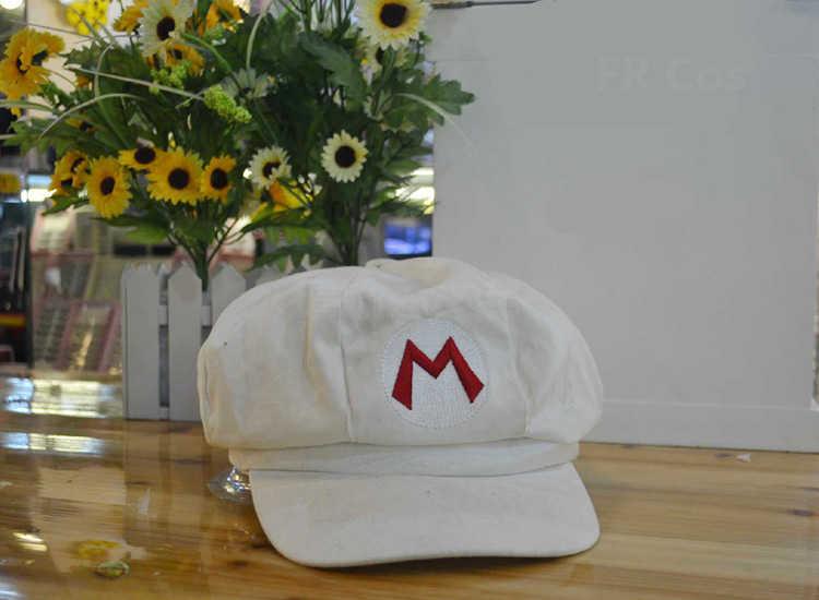 Süper Mario Cosplay Sombrero Şapka Anime Aksesuarları Luigi Bros Şapka Beyzbol Sekizgen Kap