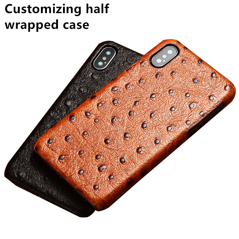 Genuine leather half wrapped cases for Blackberry Key2/BlackBerry KEYone/BlackBerry Priv back case cover hard holster Hoes coque(China)
