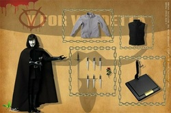 Toys Power CT013 1/6 V for Vendetta V Man Solider Figure 12 inches Male Doll Model