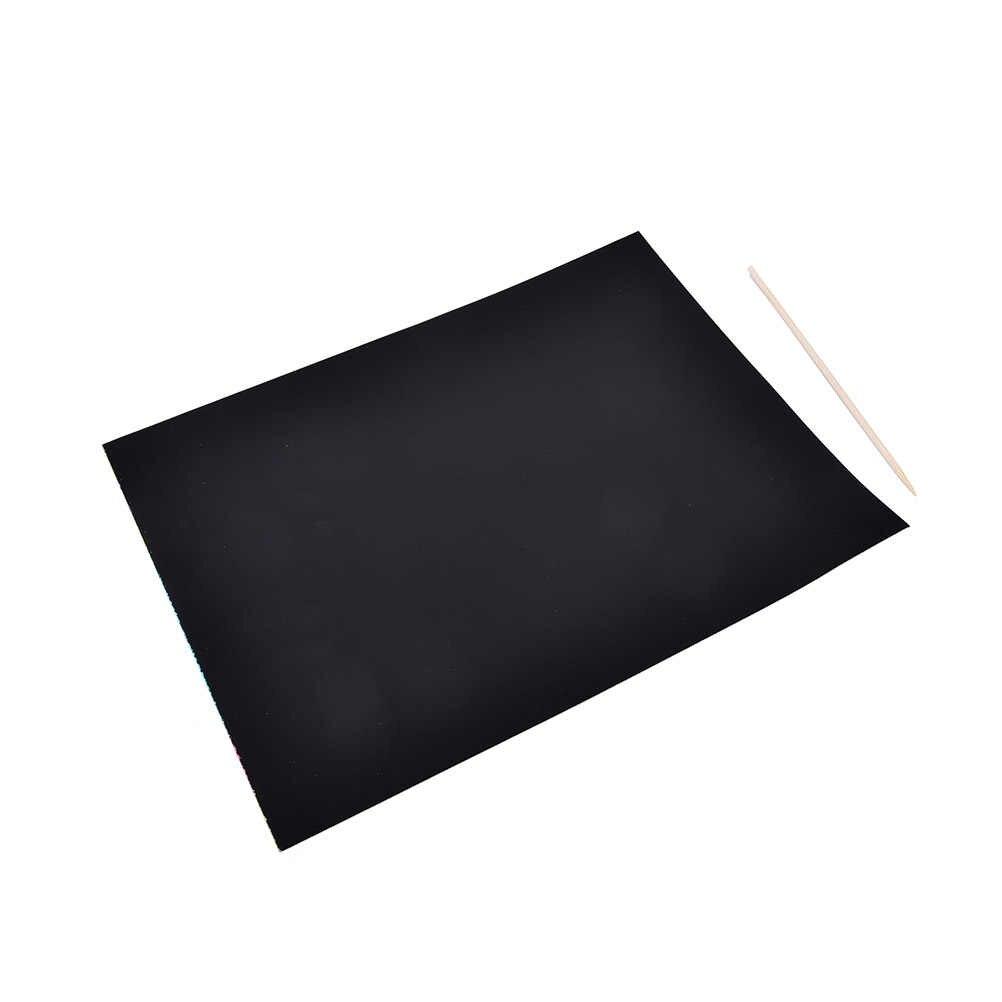 1 Copriletto A4 Arte Carta per pittura Con Il Disegno Bastone Del Bambino Che Gioca I Giocattoli Set Pittura Carta di Graffiatura Colorato Scratch Magic