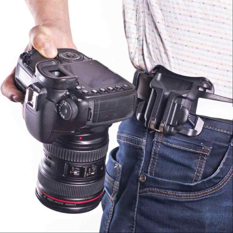 Fast Loading Holster Hanger Quick Strap Waist Belt Buckle Button Mount Clip Camera Video Bags For Sony Canon Nikon DSLR New