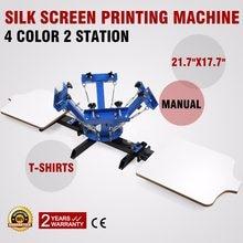 VEVOR-máquina de serigrafía, 4 colores, 2 estaciones, serigrafía