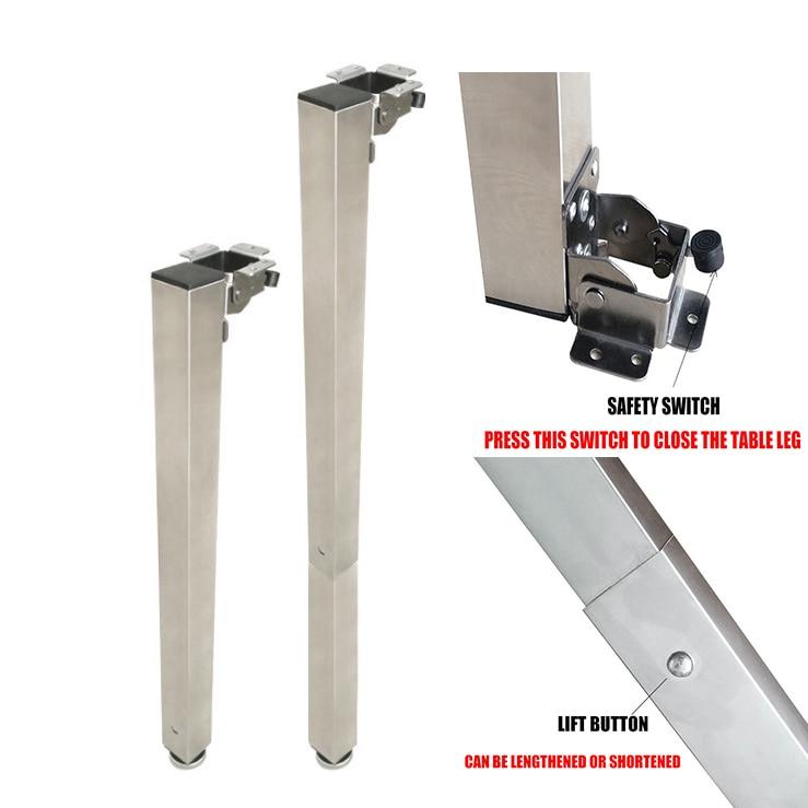 Caravan Telescopic Table Leg Folding Adjustable Height For Motorhome Camper Car Accessories Rv Folding Table Mount