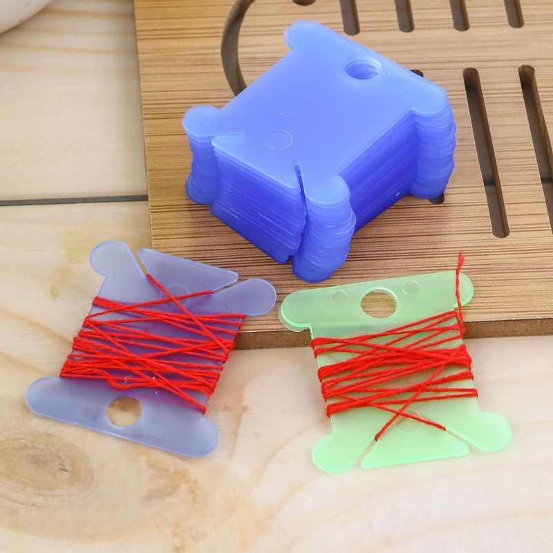 20 uds. De carretes de hilo de bordar para manualidades, soporte para almacenamiento de punto de Cruz, tablero de hilo de coser, Kit de tarjeta para manualidades, accesorios de costura