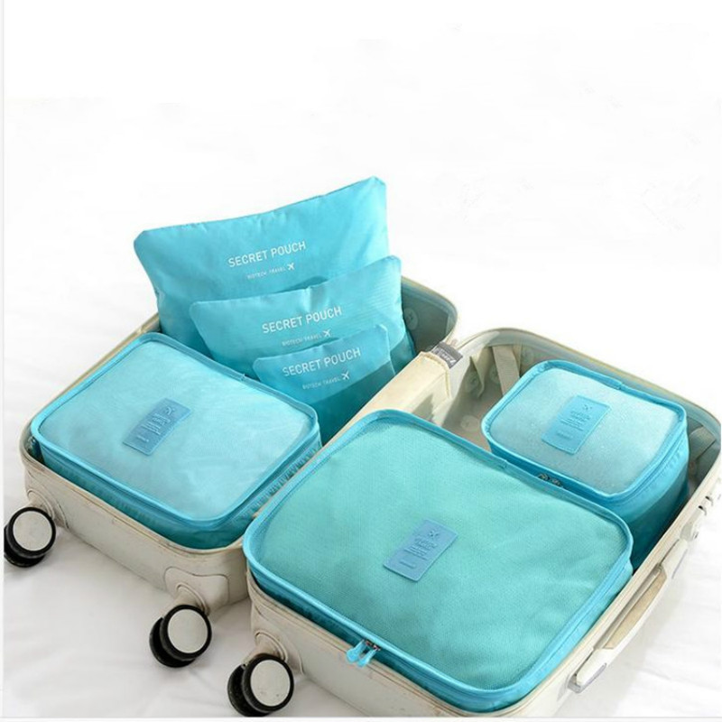 Limit 1000 6pcs Waterproof Travel Storage Bag Clothes Packing Cube Luggage Organizer Sets Nylon Home Storage Travel Bags