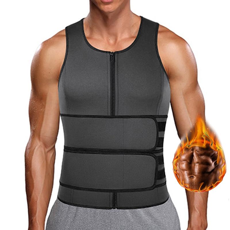 Neoprene Men Shapewear Slimming Body Shaper Waist Trainer Sweat Vest Sauna Vest for Weight Loss Tummy Fat Burner Slimming Corset